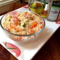 Celebrating USA: Spinach Basil Dip & Couscous Salad