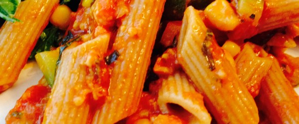 Meatless Monday: Parmesan Penne With End of Summer Vegetables & Garden Herbs