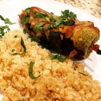 "Chile Rellenos And Mexican Cauliflower ""Rice"""