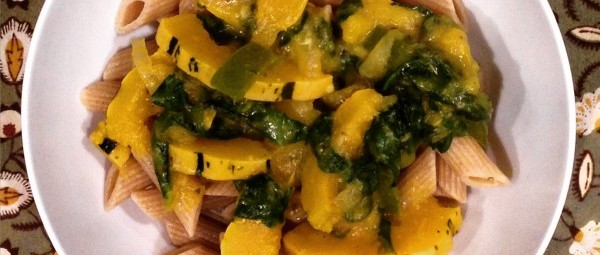 Autumn Pasta: Delicata Squash With Butternut Sauce