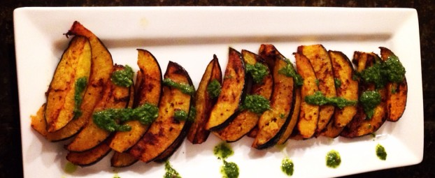 Thanksgiving Edition: Chimichurri Drizzled Sizzled Acorn Squash
