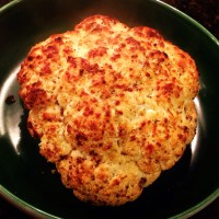 Thanksgiving Edition: Dijon Rubbed Garlicky Roasted Whole Cauliflower